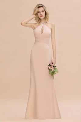 Brautjungfernkleider Lang Günstig | Chiffon Abendkleid Rosa