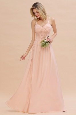 Brautjungfernkleider Lang Rosa   Chiffon Kleider Günstig Online_4