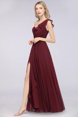 Elegante Brautjungfernkleider Weinrot | Chiffon Kleider Günstig_4