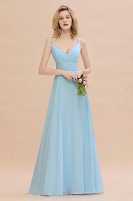 Brautjungfernkleider Blau   Chiffon Kleider Für Brautjungfern_4