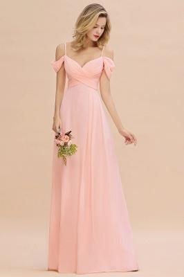 Brautjungfernkleider Lang Rosa | Chiffon Kleider Abendmoden_4