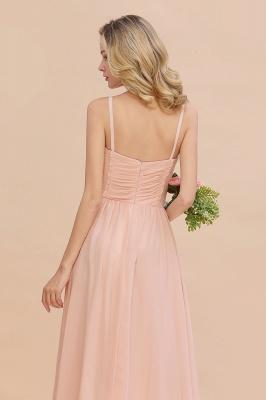 Brautjungfernkleider Lang Rosa   Chiffon Kleider Günstig Online_8