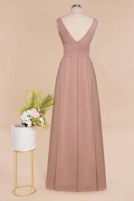 Günstige Brautjungfernkleider Altrosa | Chiffon Kleider Abendmoden Online_11