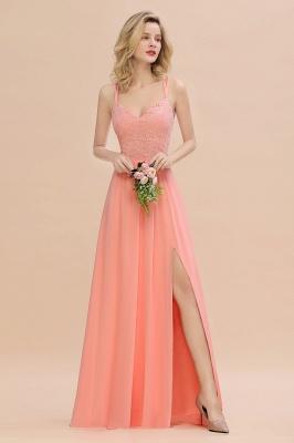 Abendkleider Lang Orange   Brautjungfernkleider Günstig_55