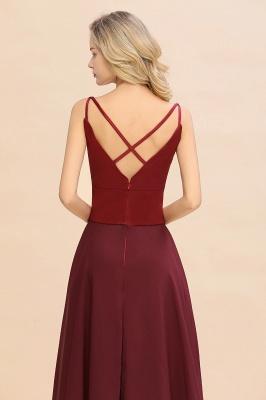 Brautjungfernkleider Weinrot | Günstige Kleider Online Kaufen_9