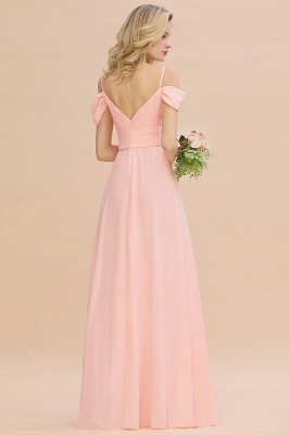 Brautjungfernkleider Lang Rosa | Chiffon Kleider Abendmoden_3