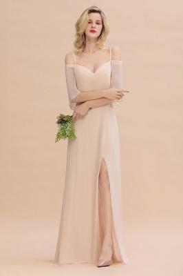 Elegante Brautjungfernkleider Champagne | Kleider für Brautjungfern_4