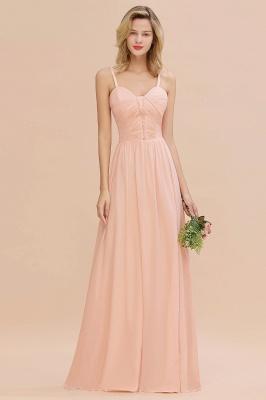 Brautjungfernkleider Lang Rosa   Chiffon Kleider Günstig Online_3