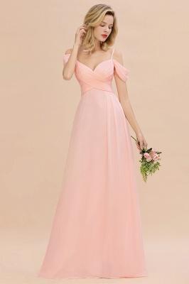 Brautjungfernkleider Lang Rosa | Chiffon Kleider Abendmoden_5