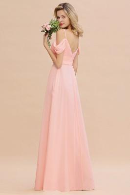 Brautjungfernkleider Lang Rosa | Chiffon Kleider Abendmoden_7