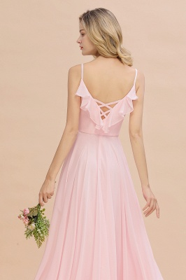 Elegante Brautjungfernkleider Rosa   Brautjungfernkleid Günstig Online_9