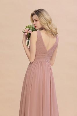 Günstige Brautjungfernkleider Altrosa | Chiffon Kleider Abendmoden Online_9