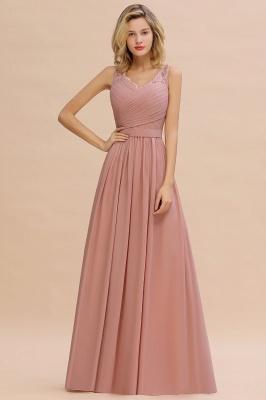 Altrosa Brautjungfernkleider Lang | Abendkleider Chiffon