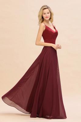 Brautjungfernkleider Weinrot | Günstige Kleider Online Kaufen_8