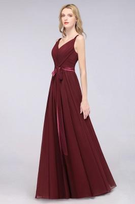 Schöne Abendkleider Weinrot | Brautjungfernkleider Lang Günstig_42
