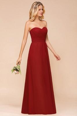 Rotes Brautjungfernkleid Günstig   Lange Brautjungfernkleider Chiffon_6