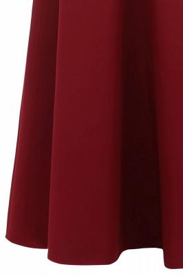 Rote Abendkleider Lang Schlicht | Vintage Abiballkleid Online_18