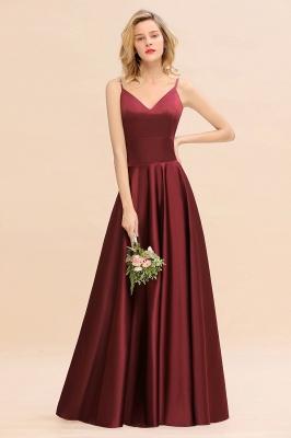 Weinrot Brautjungfernkleider Lang | Kleider Brautjungfer Günstig