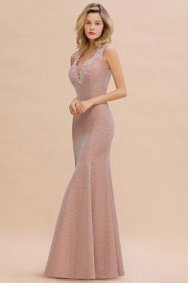 Abendkleider Lang v Ausschnitt | Abiballkleider Rosa Günstig_12