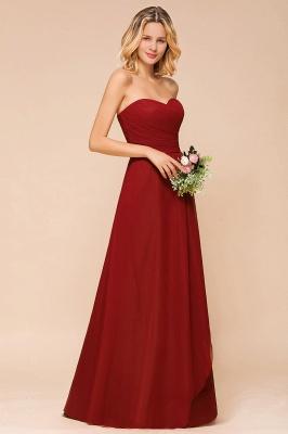 Rotes Brautjungfernkleid Günstig   Lange Brautjungfernkleider Chiffon_7