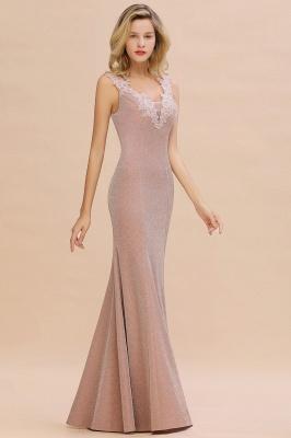Abendkleider Lang v Ausschnitt | Abiballkleider Rosa Günstig_11