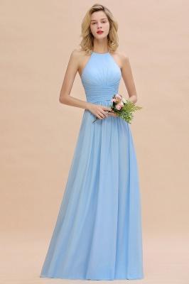 Blaues Brautjungfernkleid Chiffon | Brautjungfernkleider Lang Günstig_5