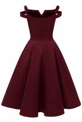 Designer Abendkleider Kurz | Weinrot Cocktailkleider Online_18