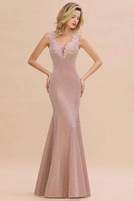 Abendkleider Lang v Ausschnitt | Abiballkleider Rosa Günstig_5