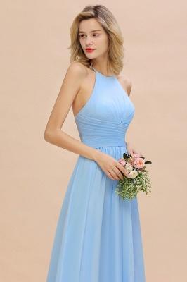 Blaues Brautjungfernkleid Chiffon | Brautjungfernkleider Lang Günstig_9
