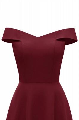 Rote Abendkleider Lang Schlicht | Vintage Abiballkleid Online_16