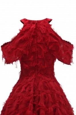 Chic Cocktailkleider Kurz   Abendkleider Rot Online_15