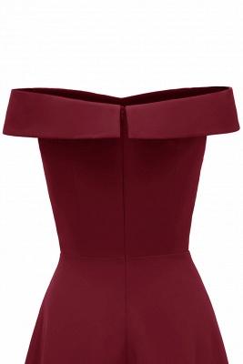 Rote Abendkleider Lang Schlicht | Vintage Abiballkleid Online_17