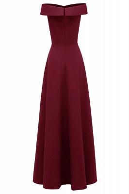 Rote Abendkleider Lang Schlicht | Vintage Abiballkleid Online_8