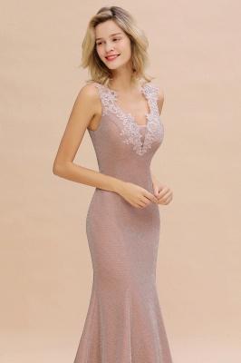 Abendkleider Lang v Ausschnitt | Abiballkleider Rosa Günstig_14