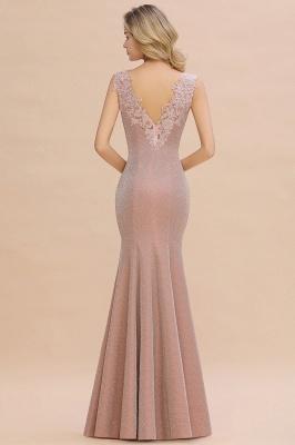 Abendkleider Lang v Ausschnitt | Abiballkleider Rosa Günstig_15