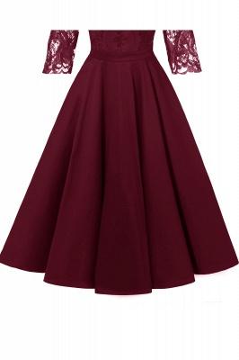 Abendkleider Mit Ärmel Rot   Cocktailkleid Kurz_15