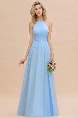 Blaues Brautjungfernkleid Chiffon | Brautjungfernkleider Lang Günstig_7