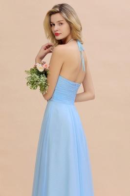 Blaues Brautjungfernkleid Chiffon | Brautjungfernkleider Lang Günstig_10