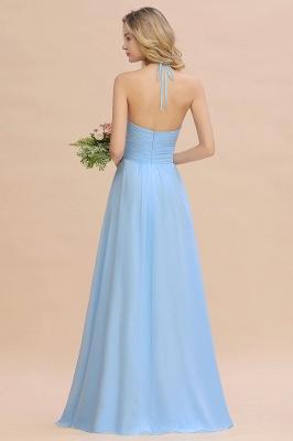 Blaues Brautjungfernkleid Chiffon | Brautjungfernkleider Lang Günstig_4