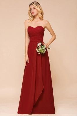 Rotes Brautjungfernkleid Günstig   Lange Brautjungfernkleider Chiffon_5