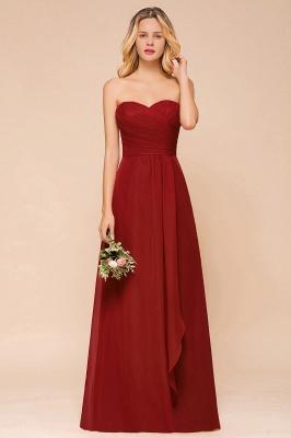 Rotes Brautjungfernkleid Günstig   Lange Brautjungfernkleider Chiffon_4