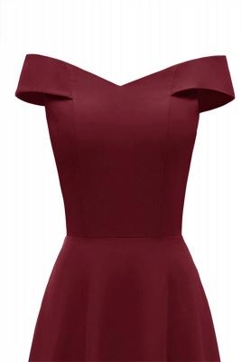 Rote Abendkleider Lang Schlicht | Vintage Abiballkleid Online_9