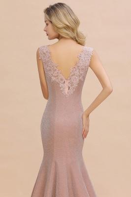 Abendkleider Lang v Ausschnitt | Abiballkleider Rosa Günstig_7