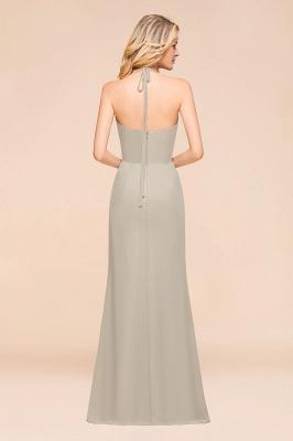 Silber Brautjungfernkleider Günstig   Hochzeitspartykleider Lang Chiffon_3