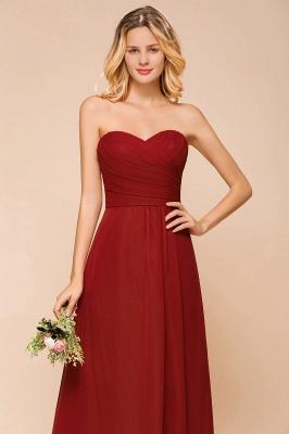 Rotes Brautjungfernkleid Günstig   Lange Brautjungfernkleider Chiffon_9