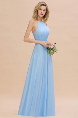 Blaues Brautjungfernkleid Chiffon | Brautjungfernkleider Lang Günstig_8