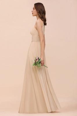 Champagne Brautjungfernkleider Lang Chiffon | Günstiges Brautjungfernkleid_8