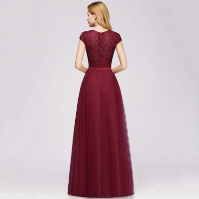 Abendkleid Rot Lang Günstig | Langes Kleid Spitze_10