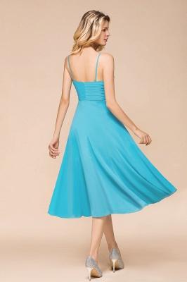 Chiffon Brautjungfernkleider Kurz | Blaue Kleider Für Brautjungfern_3
