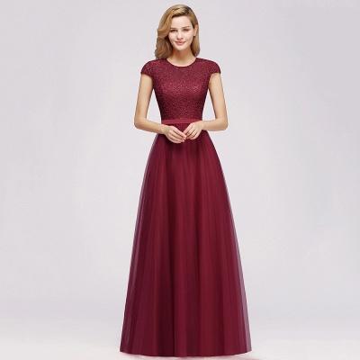 Abendkleid Rot Lang Günstig | Langes Kleid Spitze_9